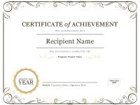 Certificates – Office intended for Template For Certificate Of Award