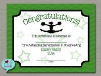 "Cheerleading Cheer Award Certificate, Dance Gymnastics Award – Printable  Digital File 8.5"" X 11"" in Gymnastics Certificate Template"
