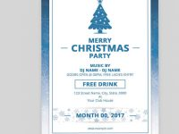 Christmas Party Flyer – Size: 4X6 In – Working File: Photoshop Cs2 intended for Microsoft Word 4X6 Postcard Template