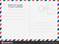 Creative Vector Illustration Of Postcard Isolated On Transparent for Airmail Postcard Template