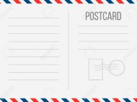 Creative Vector Illustration Of Postcard Isolated On Transparent.. with Airmail Postcard Template