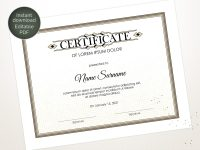 Editable Certificate Template, Blank Business Certificate with regard to Academic Award Certificate Template
