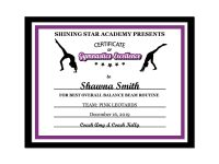 Editable Pdf Sports Team Gymnastics Certificate Award Template In 10 Colors  Letter Size Instant Download Pdf & Blank Jpg Sc-002-Gymnastics throughout Gymnastics Certificate Template