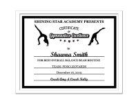 Editable Pdf Sports Team Gymnastics Certificate Award Template In Black  Letter Size Instant Download Pdf & Blank Jpg Sc-002-Gymnastics-Blk for Gymnastics Certificate Template