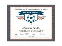 Editable Pdf Sports Team Soccer Certificate Award Template In 3 regarding Soccer Award Certificate Template