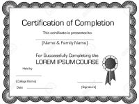 Elegant Certificate Of Completion Template pertaining to Elegant Certificate Templates Free