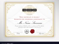 Elegant Certificate Template Design within Elegant Certificate Templates Free