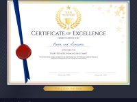Elegant Certificate Template For Excellence in Elegant Certificate Templates Free