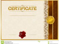 Elegant Template Of Certificate, Diploma Stock Illustration in Elegant Certificate Templates Free