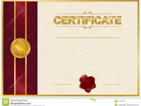 Elegant Template Of Certificate, Diploma Stock Illustration with regard to Elegant Certificate Templates Free