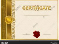 Elegant Template Vector & Photo (Free Trial) | Bigstock with Elegant Certificate Templates Free