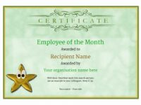 Employee Of The Month Certificate – Free Well Designed Templates inside Employee Of The Month Certificate Template