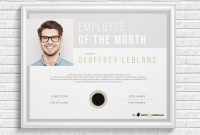 Employee Of The Month Certificate Templatehertzel On Dribbble With Employee Of The Month Certificate Template