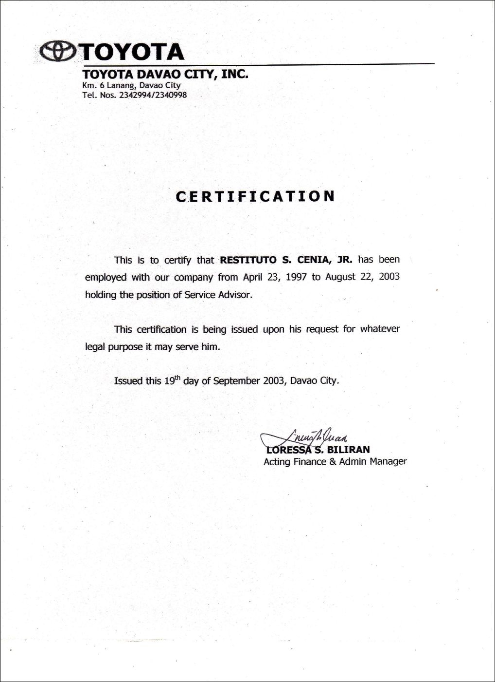 Employment Certificate Sample Best Templates Pinterest Marriage regarding Template Of Certificate Of Employment