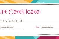 Free Editable Gift Certificates – Yeder.berglauf Verband Regarding Fillable Gift Certificate Template Free