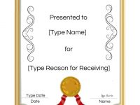 Free Printable Certificate Templates   Customize Online with regard to Template For Certificate Of Award