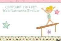 Free Printable Gymnastics Birthday Invitations – | Free Printable Pertaining To Gymnastics Certificate Template