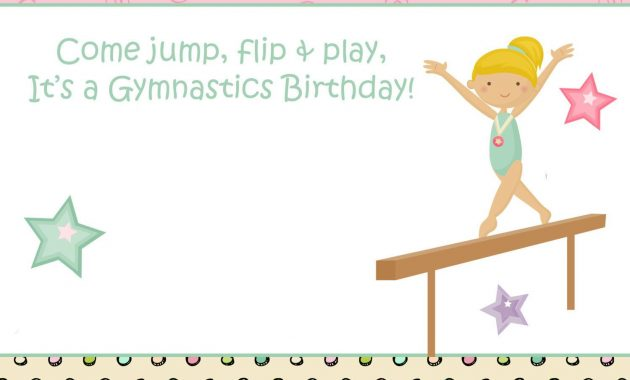 Free Printable Gymnastics Birthday Invitations – | Free Printable Pertaining To Gymnastics Certificate Template