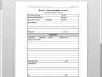 Fsms Nonconformance Report Template | Fds1150 1 Inside Ncr Report Template