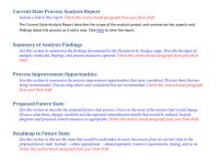 Future State Process Report Template intended for State Report Template