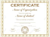 General Purpose Certificate Or Award With Sample Text That Can.. with regard to Academic Award Certificate Template