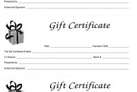Gift Certificate Template Free – Fill Online, Printable, Fillable With Regard To Fillable Gift Certificate Template Free