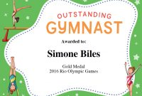 Gymnastics Quotes | Simone Biles, Gabby Douglas & Aly Raisman Quotes With Regard To Gymnastics Certificate Template