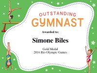 Gymnastics Quotes | Simone Biles, Gabby Douglas & Aly Raisman Quotes with regard to Gymnastics Certificate Template