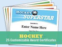 Hockey Certificates Editable , Kid Certificates, Child, Hockey Mom, Team  Parent, Hockey Coach, Award Certificates Templates, Hockey Hair with Hockey Certificate Templates