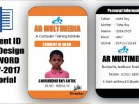 How To Create Professional Student Id Card In Ms Word 2013 Two Part Id Card  Design Microsoft Word within Free Id Card Template Word