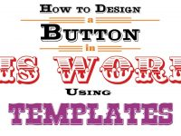 How To Design A Button In Ms Word Using Templates throughout Button Template For Word