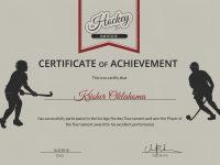 Ice Hockey Achievement Certificate Template pertaining to Hockey Certificate Templates