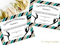 Instant Download – Gymnastics Award – Gymnastics Certificate – Printable  Gymnastics Award – Sports Achievement – You Print – Gymnastics Meet for Gymnastics Certificate Template