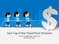Jane Tug Of War Powerpoint Template with regard to Powerpoint Templates War