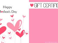 Mother's Day Gift Certificate Templates throughout Spa Day Gift Certificate Template