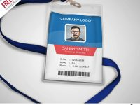 Multipurpose Company Id Card Free Psd Template | Templates | Psd with regard to Template For Id Card Free Download