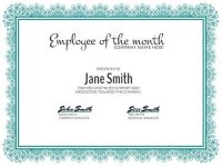 Personalize A Large Selection Of Employee Of The Month Templates. within Employee Of The Month Certificate Template
