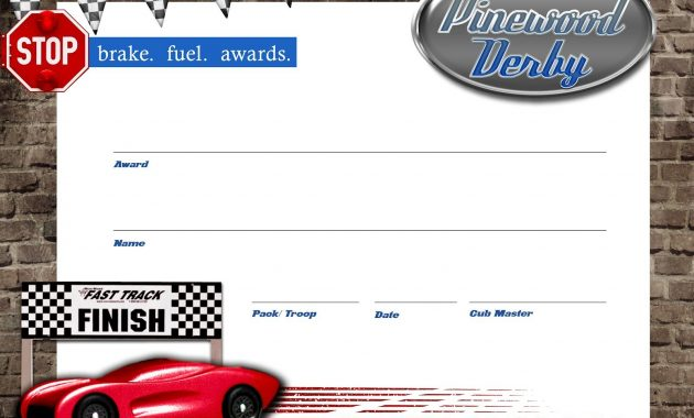Pinewood Derby Certificate – Free Download + Lanyards | Boy Scouts pertaining to Pinewood Derby Certificate Template