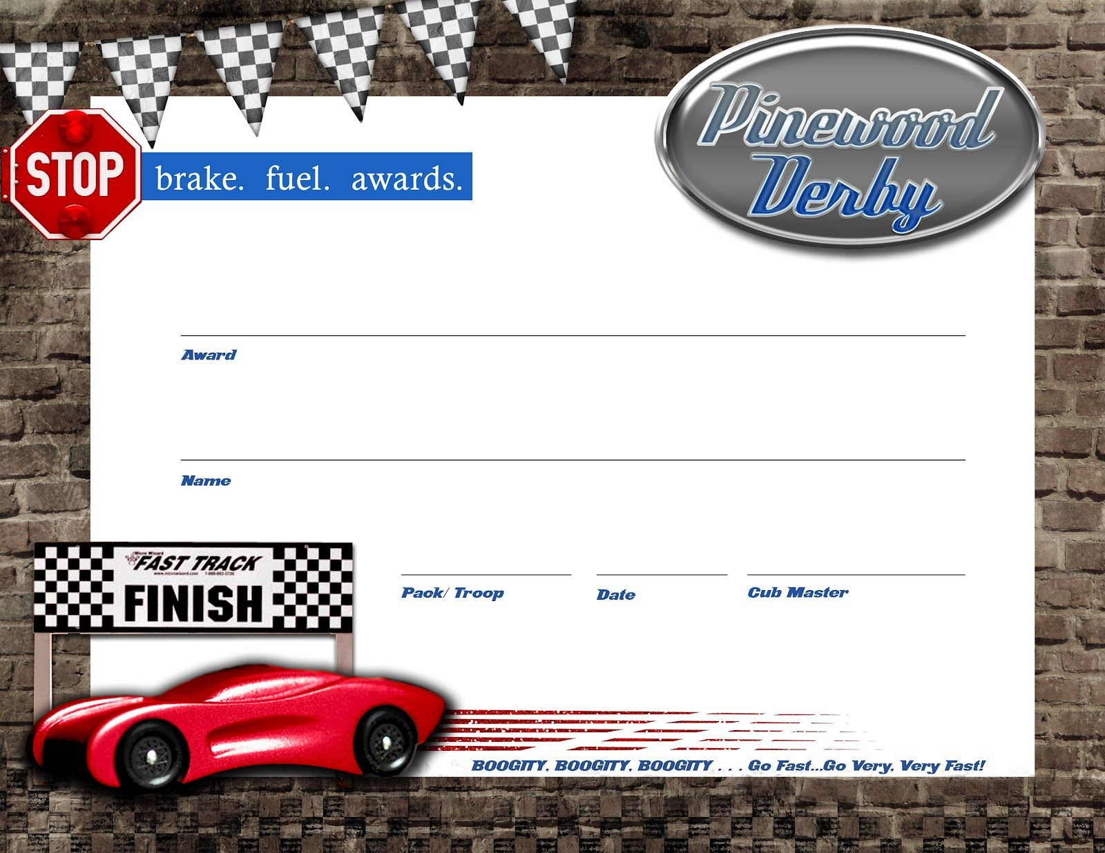 Pinewood Derby Certificate - Free Download + Lanyards | Boy Scouts Pertaining To Pinewood Derby Certificate Template