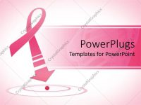 Powerpoint Template: Breast Cancer Awareness Pink Ribbon With Arrow with Breast Cancer Powerpoint Template