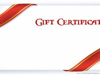 Printable Gift Certificate Templates with regard to Fillable Gift Certificate Template Free