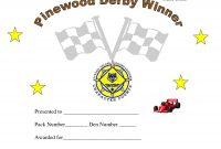 Printable Pinewood Derby Awards | Pinewood Derby Car Award within Pinewood Derby Certificate Template