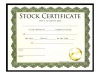 Printable Stock Certificates Blank Gift Vouchers Templates Free within Corporate Bond Certificate Template