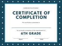 Printed Certificates within 5Th Grade Graduation Certificate Template