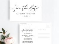 Rustic Save The Date Postcard Template | Printable Save The Date Card  Template | Black And White Save The Dates Postcard | Instant Download for Save The Date Postcards Templates