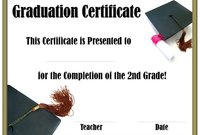 School Graduation Certificates | Customize Online With Or Without A Inside 5Th Grade Graduation Certificate Template