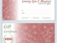 Spa, Massage Gift Certificate Template — Stock Vector © Sunshine_Art throughout Spa Day Gift Certificate Template