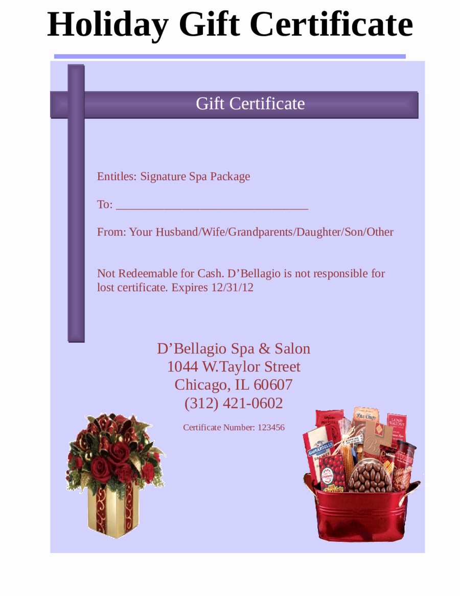 Template For Gift Certificate Lovely 2018 Gift Certificate Form Within Fillable Gift Certificate Template Free