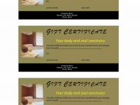 Valentine Massage Gift Certificate Template. Gift Certificate Non with Spa Day Gift Certificate Template