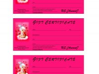 Valentine's Day Gift Certificate for Spa Day Gift Certificate Template